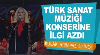 TÜRK SANAT MÜZİĞİ KONSERİNE İLGİ AZDI