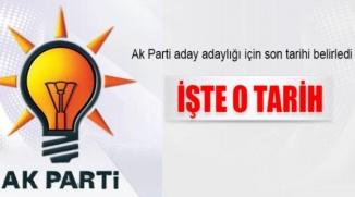 AK PARTİ'DE ADAYLARA TEMAYÜL YOKLAMASI YAPILACAK