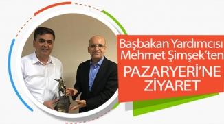BAŞBAKAN YARDIMCISI MEHMET ŞİMŞEK'TEN PAZARYERİ'NE ZİYARET