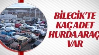 BİLECİK'TE NE KADAR HURDA ARAÇ VAR