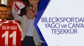 BİLECİKSPOR'DAN YAĞCI VE CAN'A TEŞEKKÜR