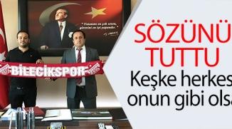TSO BAŞKANINDAN BİLECİKSPOR MADDİ DESTEK