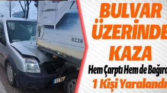 BİLECİK'TE TRAFİK KAZASI, 1 YARALI