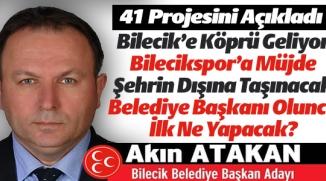 MHP'NİN ADAYI 41 PROJESİNİ AÇIKLADI