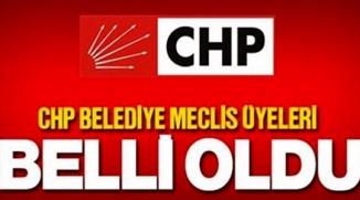 CHP'NİN LİSTESİ BELLİ OLDU