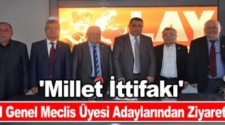 MİLLET İTTİFAKI MECLİS ÜYESİ ADAYLARINDAN ZİYARET