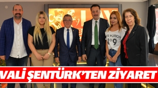 VALİ ŞENTÜRK'TEN İHA' YA ZİYARET