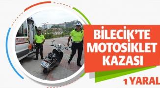 MOTOSİKLET KAZASI, 1 YARALI