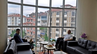 REKTÖR TAŞ, BAŞKAN SEVER İLE BİR ARAYA GELDİ