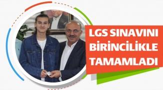 LGS SINAVINI BİRİNCİLİKLE TAMAMLADI