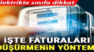 ELEKTRİKTE SINIFA DİKKAT!