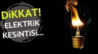 DİKKAT ! ELEKTRİK KESİNTİSİ !