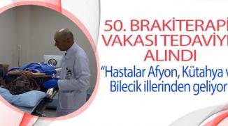 ESOGÜ HASTANESİ RADYASYON ONKOLOJİSİ KLİNİĞİ'NDE 50. BRAKİTERAPİ VAKASI TEDAVİYE ALINDI