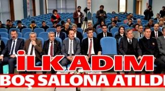 İLK ADIM BOŞ SALONA ATILDI