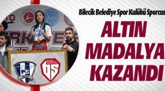 ALTIN  MADALYA  KAZANDI