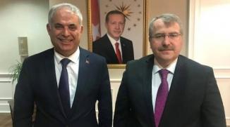 BAŞKAN YAMAN'DAN BAKAN YARDIMCISI ELDEMİR'E ZİYARET