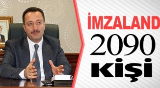 İMZALANDI 2090 KİŞİ
