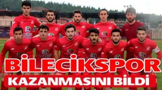 BİLECİKSPOR KAZANMASINI BİLDİ