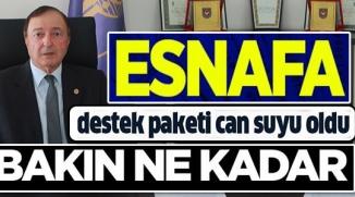 "BİLECİK'TE ESNAFA 87 MİLYONLUK ""CAN SUYU"""