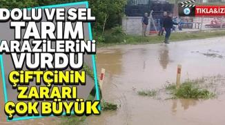 DOLU VE SEL TARIM ARAZİLERİNİ VURDU!