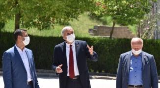 """BAŞKAN BAKKALCIOĞLU MAHALLE KONAKLARI VE 'ENGELSİZ KAFE""""  BİNASINI ZİYARET ETTİ"""