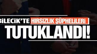 BİLECİK'TE HIRSIZLIK ŞÜPHELİLERİ TUTUKLANDI