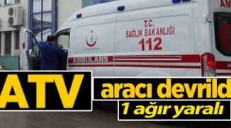 BİLECİK'TE ATV'NİN DEVRİLMESİ İLE ALTINDA KALAN SÜRÜCÜ AĞIR YARALANDI