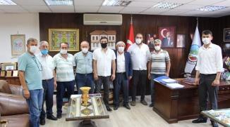 MHP'DEN BAŞKAN ŞAHİN'E ZİYARET