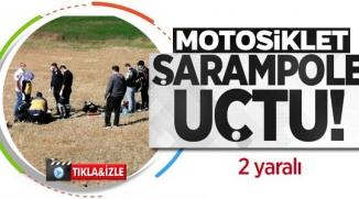 BİLECİK'TE MOTOSİKLET KAZASI, 2 YARALI
