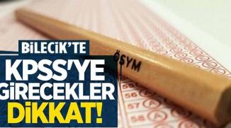 KPSS'YE GİRECEKLER DİKKAT