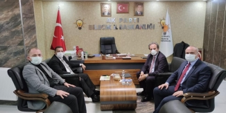 AK PARTİ MKYK ÜYESİ COŞKUN'DAN  İL BAŞKANI KARABIYIK'A ZİYARET
