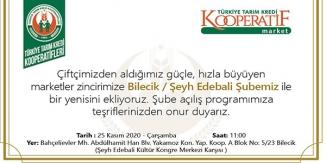 BİLECİK'TE 2. ŞUBESİNİ AÇIYOR