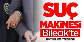SUÇ MAKİNASI BİLECİK'TE KÖMÜRLÜKTE YAKALANDI