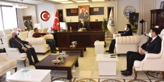 FABRİKA SAHİBİ ŞİŞMAN'DAN BAŞKAN BAKKALCIOĞLU'NA ZİYARET