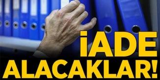 İADE ALACAKLAR !