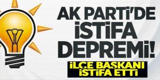 AK PARTİ'DE FLAŞ İSTİFA