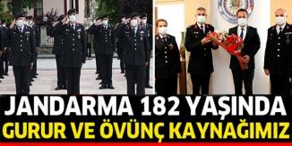 JANDARMANIN 182'İNCİ KURULUŞ YILDÖNÜMÜ TÖRENLE KUTLANDI
