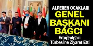 ALPEREN OCAKLARI GENEL BAŞKANI BAĞCI'DAN ERTUĞRULGAZİ TÜRBESİ'NE ZİYARET