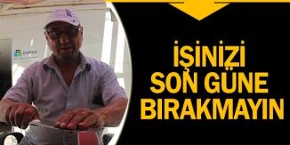 """BIÇAKÇILARDAN """"BİLEME İŞİNİ SON GÜNE BIRAKMAYIN' UYARISI"""