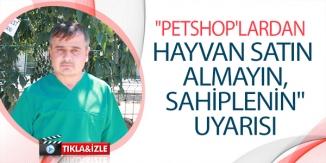 """PETSHOP'LARDAN HAYVAN SATIN ALMAYIN, SAHİPLENİN"" UYARISI"