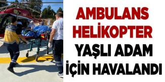 BİLECİK'TE KAZADA YARALANAN ŞAHIS AMBULANS HELİKOPTERLE İSTANBUL'A SEVK EDİLDİ