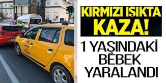 BİLECİK'TE TRAFİK KAZASI, 1 YAŞINDAKİ BEBEK YARALANDI