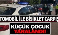 OTOMOBİL İLE BİSİKLET ÇARPIŞTI!