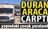 PARK HALİNDEKİ ARACA ÇARPARAK, YARALANDI