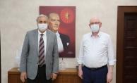 BOZÜYÜK BELEDİYE BAŞKANI BAKKALCIOĞLU, KAZIM KURT'U ZİYARET ETTİ