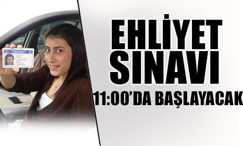 24 AĞUSTOS 2013 EHLİYET SINAVI