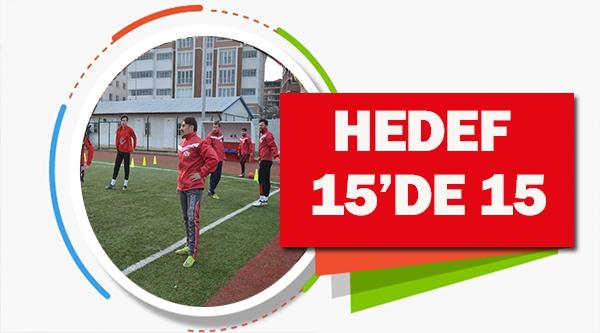 BİLECİKSPOR'DA HEDEF 15'DE 15