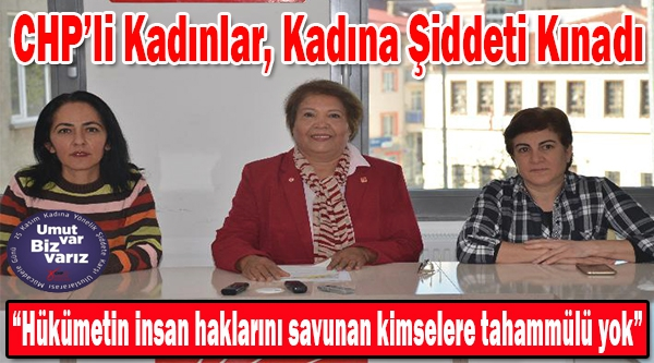 BİLECİK'TE CHP'Lİ KADINLAR KADINA ŞİDDETİ KINADI