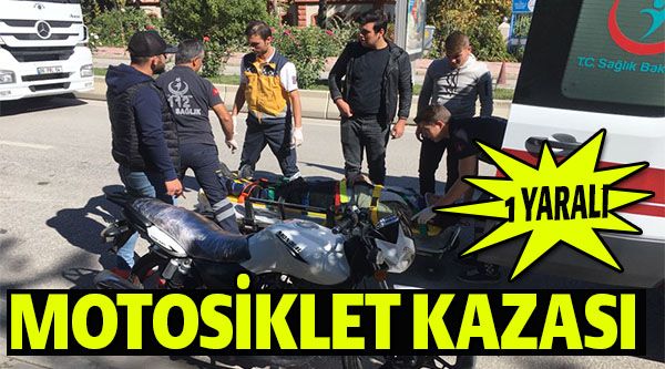 BİLECİK'TE MOTOSİKLET KAZASI; 1 YARALI
