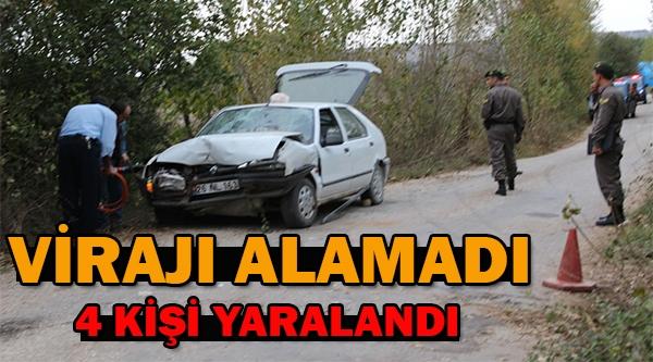 BİLECİK'TE TRAFİK KAZASI, 4 YARALI